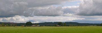Panorama-Landschap nabij Lemele (Overijssel) van Leo Huijzer