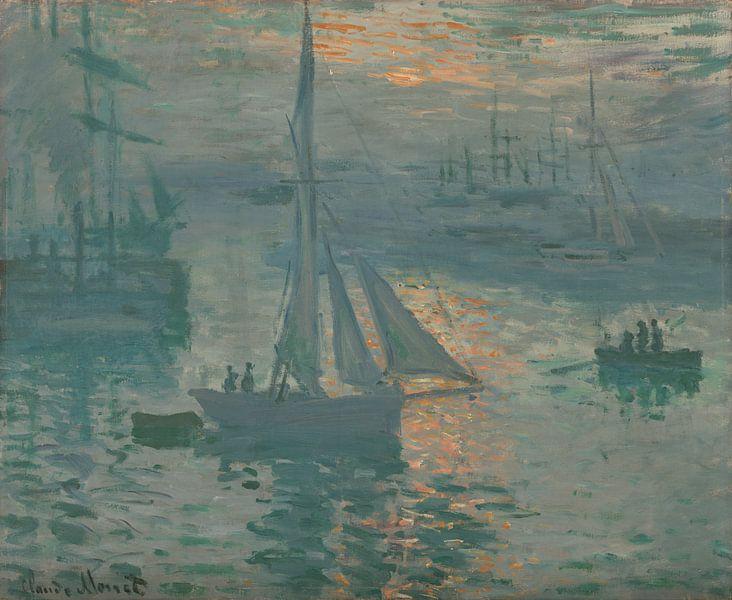 Opkomende zon van Claude Monet van Hollandse Meesters
