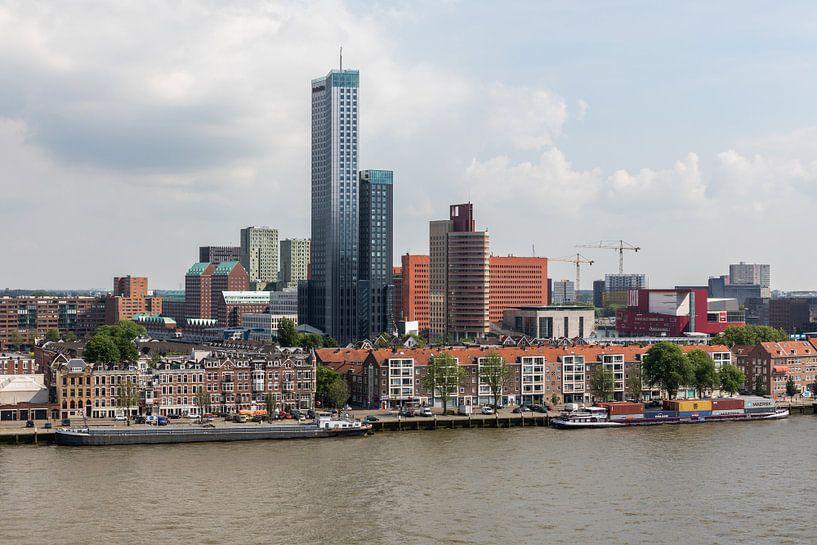 De Maastoren en het Noordereiland in Rotterdam van MS Fotografie