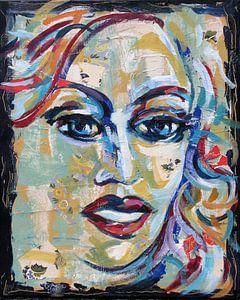 portret vintage blue