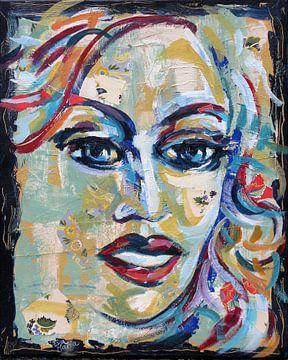 Portrait vintage blue von ART Eva Maria