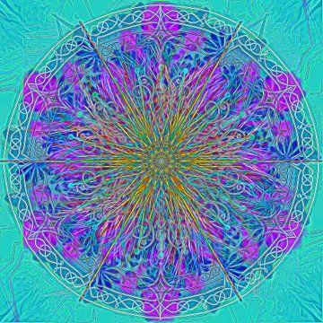 Caleidoscoop, blauwtinten van Rietje Bulthuis