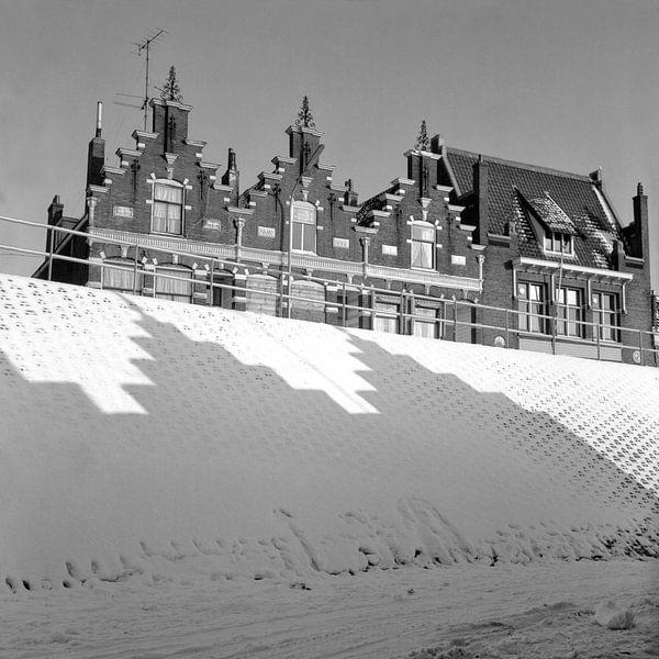 Dordrecht, Groenedijk winter 1969