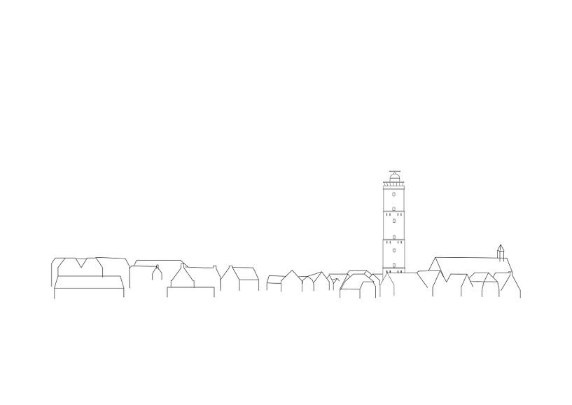 Terschelling-Poster Brandaris Skyline von Studio Tosca