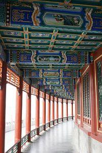 Lange Corridor Kunstwerken Koninklijke Parken Beijing Bocht