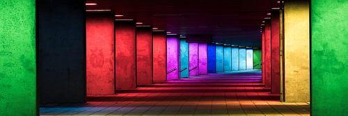 De Licht-Arcade in Rotterdam van Peter Struycken van Vincent Fennis