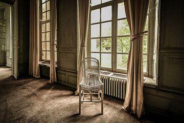 Verlaten chateau Martin Pecheur, Frankrijk van