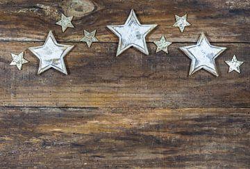 Kerstversiering met sterren ornamenten rand decoratie van Alex Winter