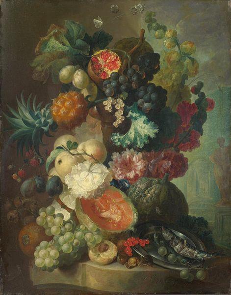 Fruit, Bloemen en een Vis, Jan van Os van Meesterlijcke Meesters