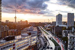 Rotterdam au coucher du soleil 2 sur Rens Bok