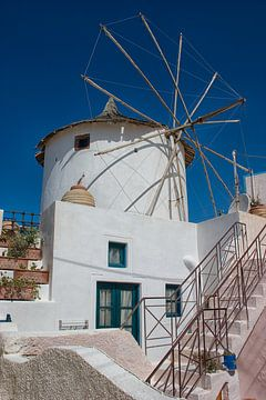 Windmolen op Santorini van Angelika Stern