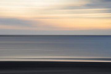 De zon verdwijnt in abstractie van Bianca Dekkers-van Uden