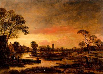 Flusslandschaft, Aert van der Neer