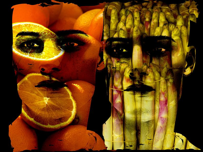 Oranges and asapargus
