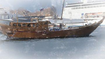 Dau in de haven van Muscat van Frank Heinz