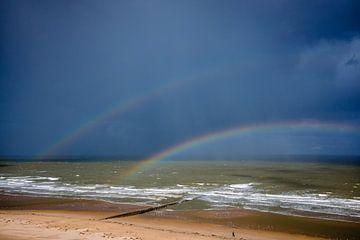 Doppelter Regenbogen an der belgischen Küste von Part of the vision