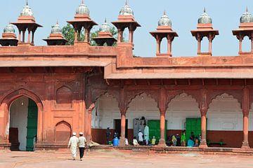 Pasteltinten in straatbeeld Agra