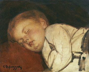 Robert aan het slapen, FRANZ VON DEFREGGER, 1877-1878 van Atelier Liesjes
