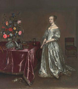 Junge Frau mit Stillleben, Gesina ter Borch