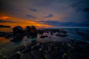 Zonsondergang van Mauritius van Dominik Hüther