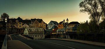 Dagelijks levenslandschap in het Erzgebirge Zschopau van Johnny Flash