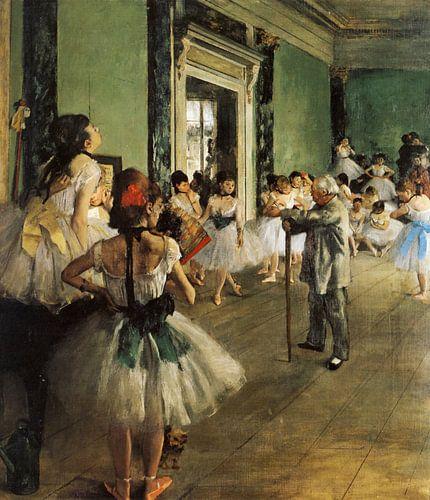 Schilderij De balletklas van Edgar Degas