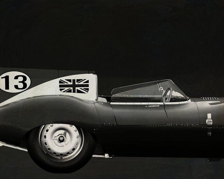 Jaguar Type D 1956 Rechterzijde B&W van Jan Keteleer