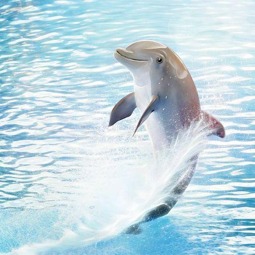 Cute Dolphin van Silvio Schoisswohl