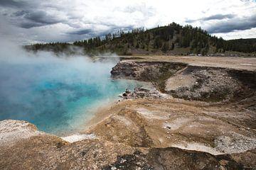 Zwavelbron in Yellowstone van Hans Jansen