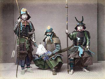 Drei alte Samurai auf Foto (1 von 2)