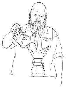 "Die grobe ""langsame"" Kaffeemaschine"