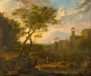 Landschape italien, Jan van Huijsum