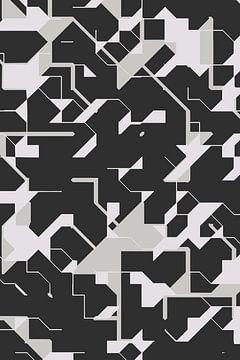 Black and White generative digital art van Marc Brinkerink
