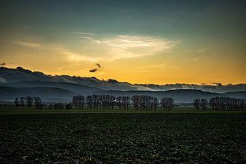 Harzer Berge im Sonnenuntergang von Manuela Feuerhahn
