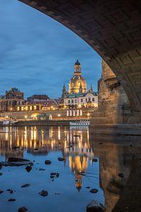 Frauenkirche Dresden bei Nacht von Sergej Nickel