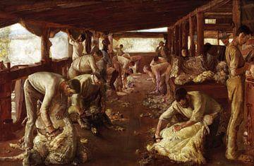 Tom Roberts, Het gouden Fleece - 1894 van Atelier Liesjes