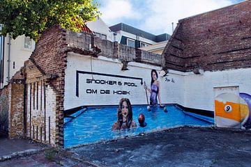 Purmerend muurschildering Snooker & Pool van Lia Morcus