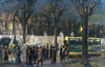 Straatbeeld bij de Brandenburger Tor, Berlijn, Duitsland, Max Liebermann, 1916 van Atelier Liesjes