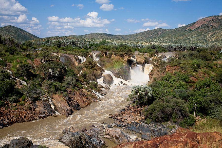 Epupa watervallen  van Jan van Reij