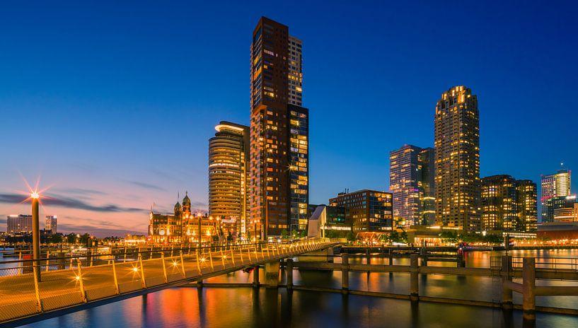 Rotterdam skyline, Netherlands van Henk Meijer Photography