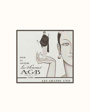 Les Grands Unis | Historische Modeanzeige | Art Deco, Minimalist von NOONY