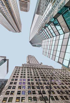 Chrysler-Gebäude, hoch oben von Inge van den Brande