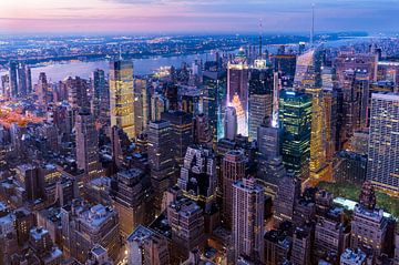 Manhattan zur blauen Stunde von Kurt Krause