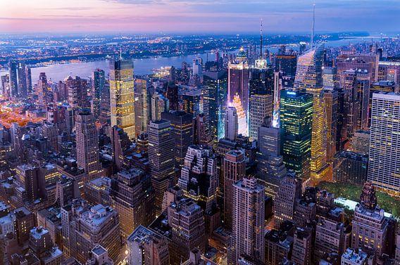 Manhattan zur blauen Stunde van Kurt Krause