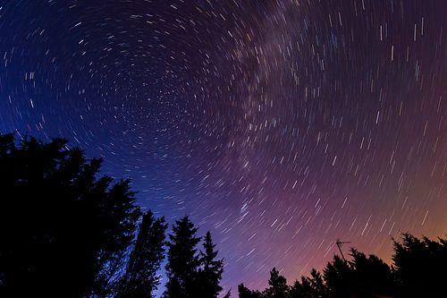 Trails Star autour de l'étoile Polaris sur