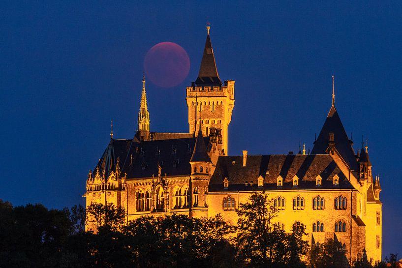 Blutmond und Schloss Wernigerode von Oliver Henze