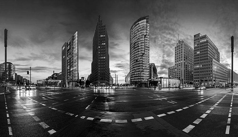 Berlin Potsdamer Platz Skyline Panorama von Frank Herrmann