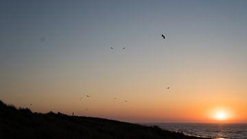 Vlieland zonsondergang van Tomas Grootveld