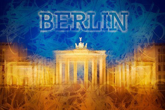 Digital-Art BERLIN Brandenburg Gate II van Melanie Viola