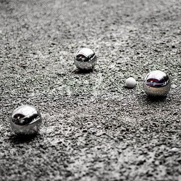 Jeu de Boules in zwart-wit van Jan Hermsen